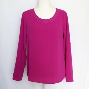 Skies are Blue Stitch Fix Blouse Purple Small